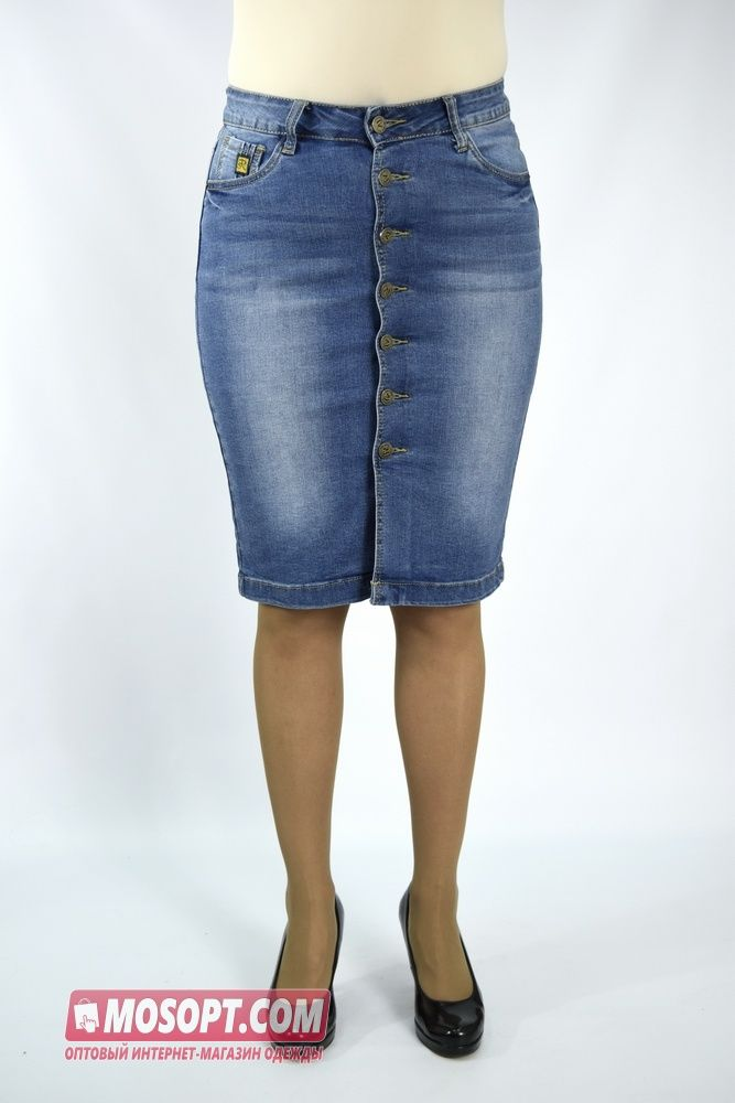 193536f30aa Джинсовая юбка женская 98 см L-8816 купить оптом в интернет-магазине ...