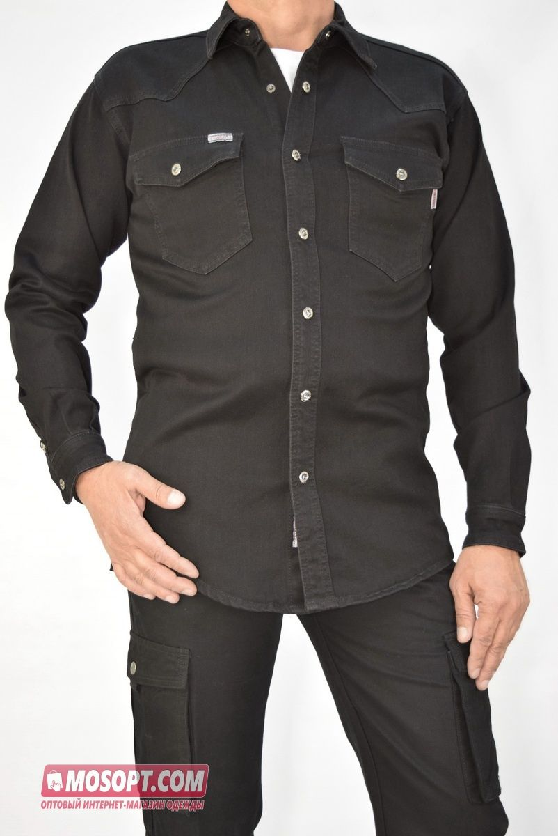 ec3fe453d30 Рубашка мужская джинсовая CARLO SPACE PT9928-2 купить оптом в ...